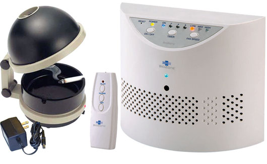 A nice Bundle of Capture smokeless ashtray and BZPR20 air purifier