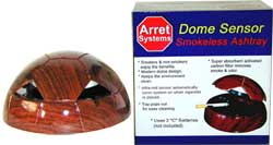 Dome smokeless ashtray works similar to Holmes smokeless ashtray and Pollenex smokeless ashtrays