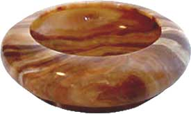 Sienna02 Marble Ashtray for cigars or cigarettes.