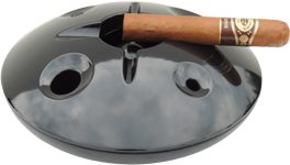 Black 8 inch windproof ashtray