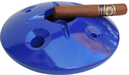 Royal Blue 8 inch windproof ashtray