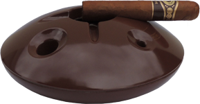 Brown 8 inch windproof ashtray