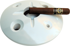 White 8 inch windproof ashtray